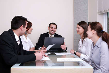 Business team or group at a meeting Stock Photo - 2102032