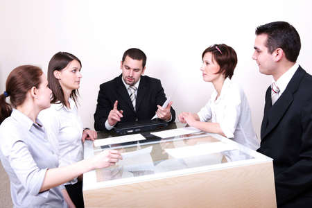 Business team or group at a meeting Stock Photo - 2101866