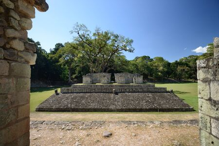 Golf ball in the ancient Mayan city of Copan in Honduras 2
