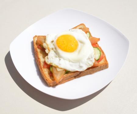 bacon love: Youth egg sandwich