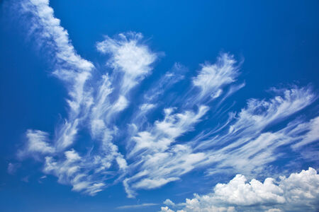 solar wind: Abstract feather clouds  Stock Photo