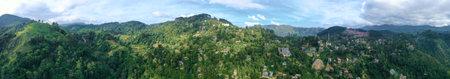 Aerial view. Beautiful panoramic view of the high mountain tourist town of Ella. Sri Lanka Banco de Imagens