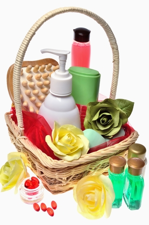 Items for body care, spa and sauna photo