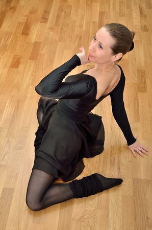 Ballerina in black photo