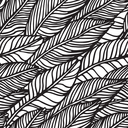 Beautiful seamless tropical jungle floral pattern background with handdrawing doodle Universal summer patterrn for your clothers, typography, design 向量圖像