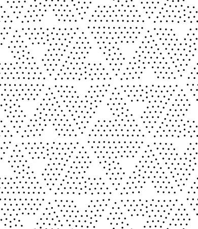 Modèle sans couture géométrique de vecteur. Répétition de gradation de triangle abstrait en points noirs et blancs. Conception de pointillisme moderne