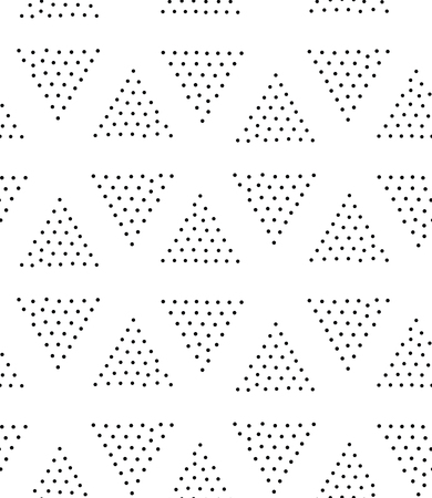 pointillism: Vector geometric seamless pattern. Repeating abstract triangle gradation in black and white dots. Modern pointillism design