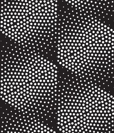 Vector abstract seamless géométrique. Répétition de gradation en noir et blanc. design tramée moderne, pointillisme