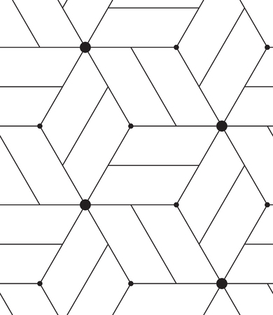 nodes: Vector seamless pattern. Modern geometric background. Texture with lines, grid, rhombus and nodes