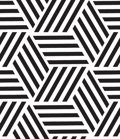 grid pattern: Vector seamless pattern. Modern stylish line, hexagon geometric background. Texture with rhombus from striped Illustration
