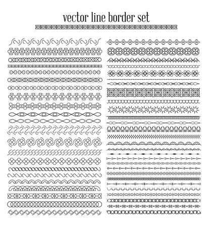 Vector lines, border divides set. Universal elements seamless lines for your design