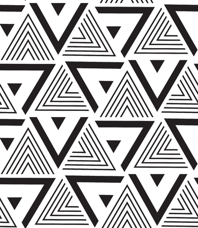 grid pattern: Vector seamless pattern. Modern geometric texture. Repeating abstract background. Triangle linear grid from striped elements Illustration