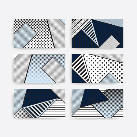 black and white pop art geometric pattern set juxtaposed with bright bold blocks of color squiggles, erratic images. Matterial design background elements composition. Futuristic, prospectus, poster, m