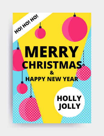 Merry christmas New Year design, eye catching banner template. Illustration