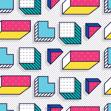 Seamless pattern in memphis style