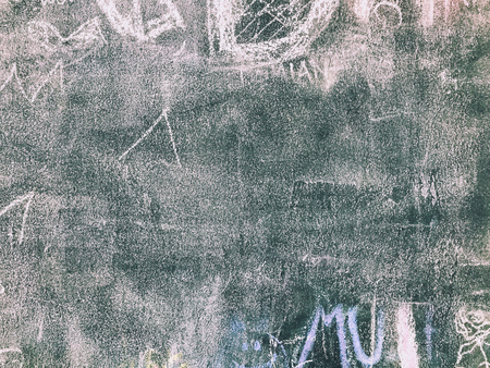 school class: Back to school. Background with children scribbles painted by colorful chalk
