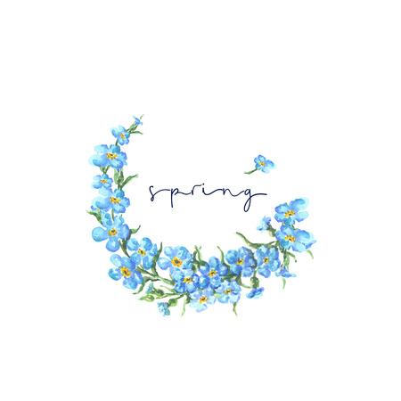 Helle Aquarell Blume mit Blatt isoliert auf leicht für Schnitt weißen Hintergrund Standard-Bild - 85755590