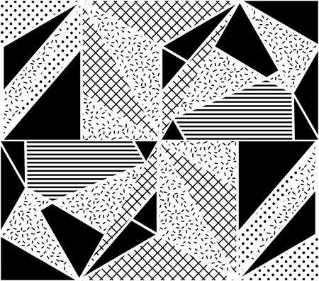 repeated: Vector Seamless Pattern. Abstract Geometric