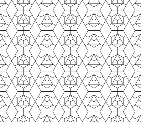 grid pattern: Vector seamless geometric pattern with editable weight of stroke