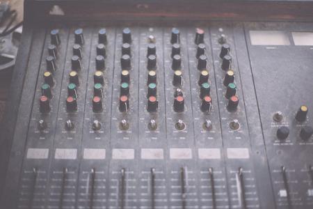 audio mixer: Old unnecessary faulty musical equipment mixer controller DJ control