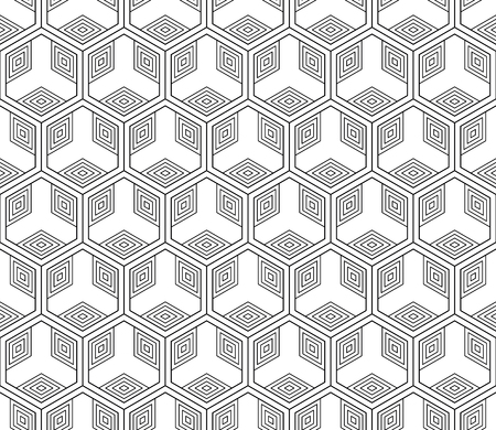 Vector seamless geometric pattern, On black illustration. 일러스트