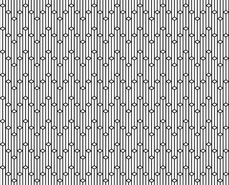 Vector seamless geometric pattern - Vertical patterns repetitive on black illustration