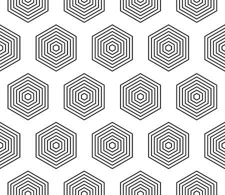 Seamless geometric pattern - Pentagon repetitive pattern on black illustration 일러스트