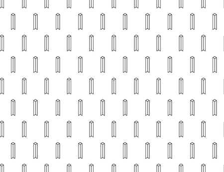 Vector seamless geometric pattern. Vertical with spaces
