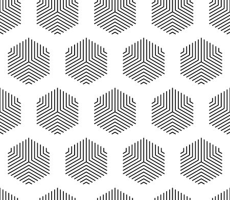 Vector seamless geometric pattern. Pentagon in lines illustration