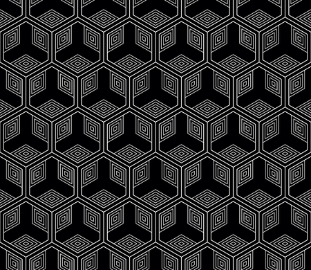 Vector seamless geometric pattern. Classic Chinese ancient fully editable ornament Illustration