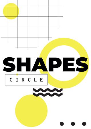 Geometric shapes icon image illustration