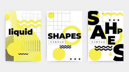 Geometric shapes banner icon image illustration