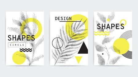 Outline banner design image illustration
