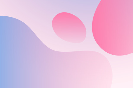 Gradient background with simple liquid forms in light pastel colors. Perfect illustration as backdrop 일러스트