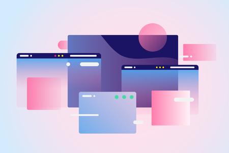 Web pages design composition. Gradient network Vektoros illusztráció