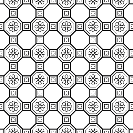 Vector seamless geometric pattern. Classic Chinese ancient ornament 스톡 콘텐츠