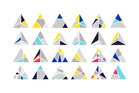 Triangle Vector design elements set