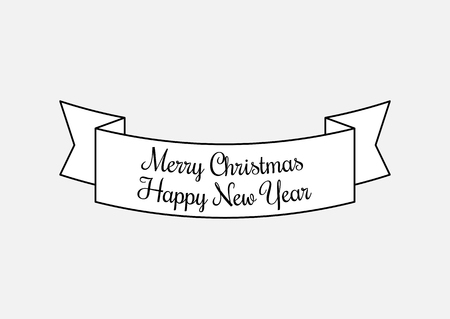 Vector Vintage Merry Christmas And Happy New Year
