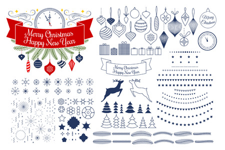 Vector universal mega collection of Christmas vector patterns sh