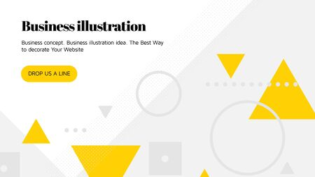 Vector template for landing page. Web concept with universal abstract shapes and elements composition, website text. Design and development, app, responsive, programming, seo, maintenance, banner