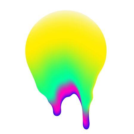 Simple Vector Liquid Gradient Shape. Trendy Universal Minimalist Object For Your Futurism Design, Animation, Fanzine Art, Scrapbooking, Collage, Vaporwave footages