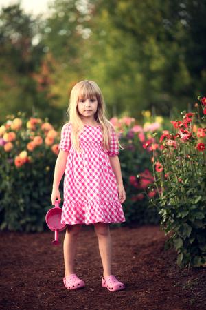 small girl: Small girl at the garden