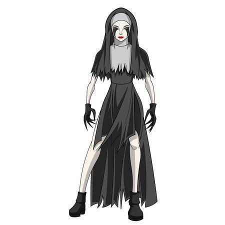 spooky cartoon of halloween costume
