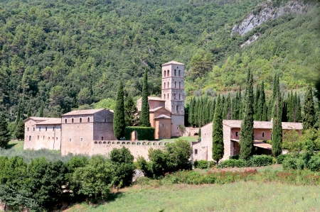 terni: Abbey San Pietro in Valle, Umbria region