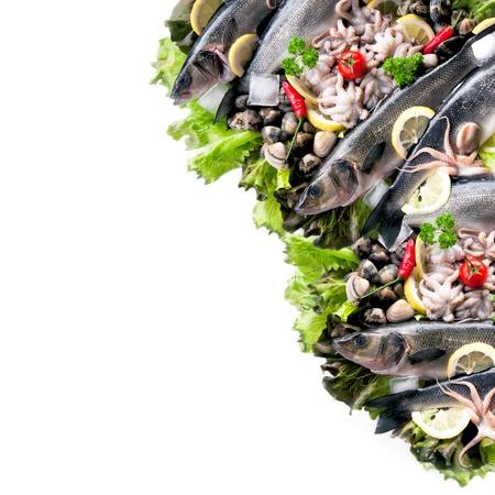 pescados y mariscos: Mariscos frescos con los veh�culos