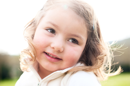 Adorable happy smiling little girl