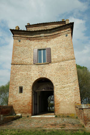 abbot: tower of abbot in comacchio (italy)