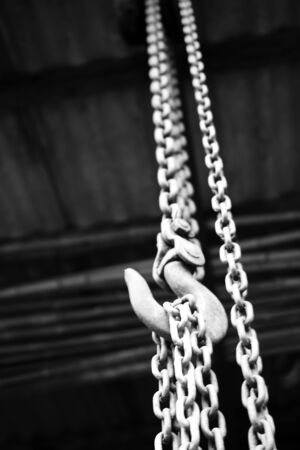 chain suspended in air over lighter background Stock Photo - 6995735