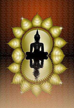 Buddha reflection Stock Photo - 19094562