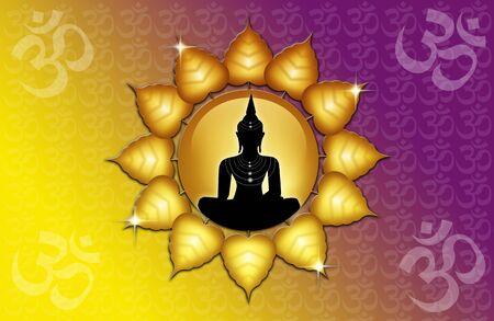 Om symbol and Buddha Stock Photo - 19094557